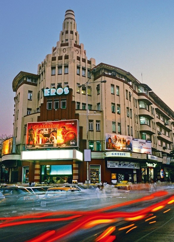 Eros building sitting at the junction of jamshedji tata road and maharshi karwe road source a guide to mumbais art deco masterpiece by fugamundi
