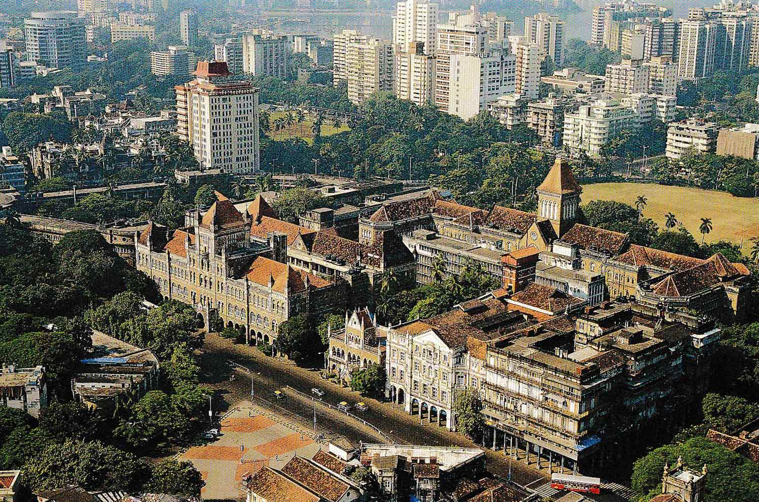 Cluster of 19th Century Victorian Buildings © Book: Above Bombay, Jehangir Sorabjee