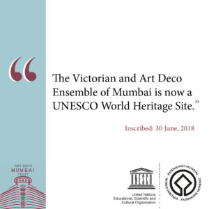 UNESCO inscription announcement (Photo Courtesy: Art Deco Mumbai)