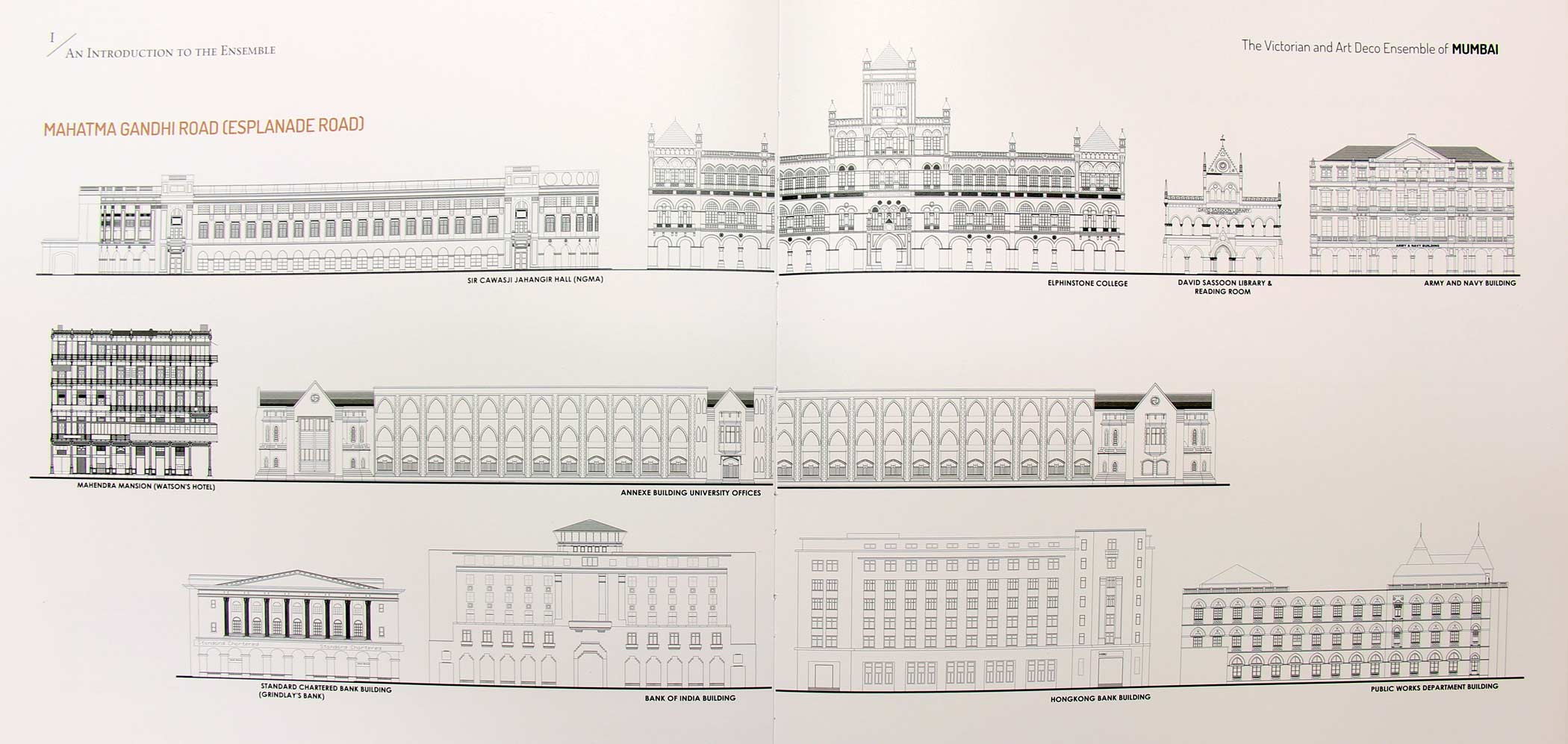 Intricate drawings of Victorian Gothic buildings in the Dossier (Photo Courtesy: Abha Narain Lambah, The Victorian Gothic and Art Deco Ensemble of Mumbai)