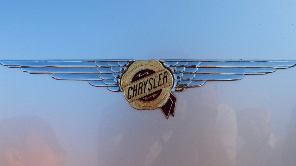 Stylish typeface for the CHRYSLER lettering on the boot; Photo Credit: Karl Bhote