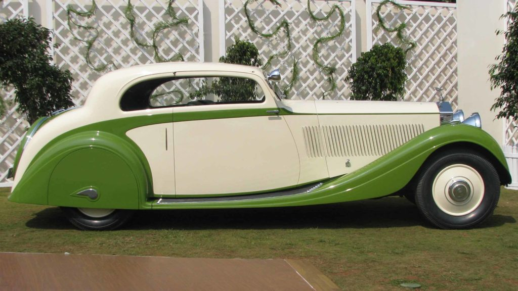Side view of elegantly designed Rolls Royce Phantom II Continental,  Photo Credit: Karl Bhote