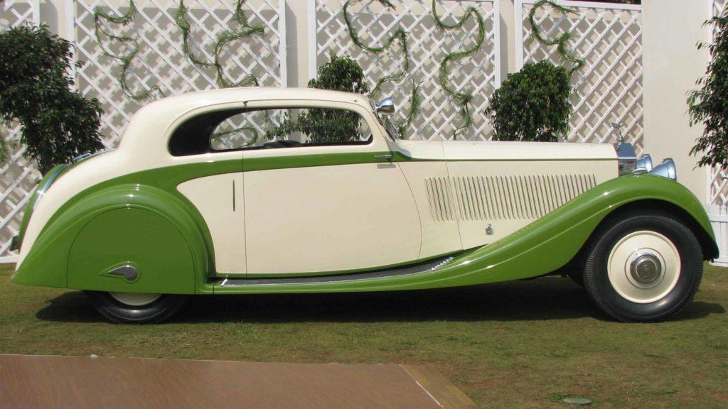 Side view of elegantly designed Rolls Royce Phantom II Continental,  Photo Credit: Karl Bhote
