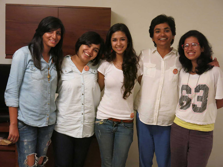 The Design team of Bombay Velvet. From left in order- Dhara Jain, Kazvin Dangor, Shaira Kapoor, Sonal Sawant and Zainab Badani. Photo courtesy: Dhara Jain
