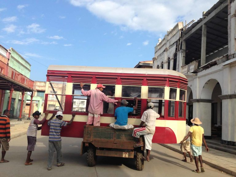 Trams were an essential component of Bombay's old world charm and the crew recreated these on the sets. Photo Courtesy: Dhara Jain