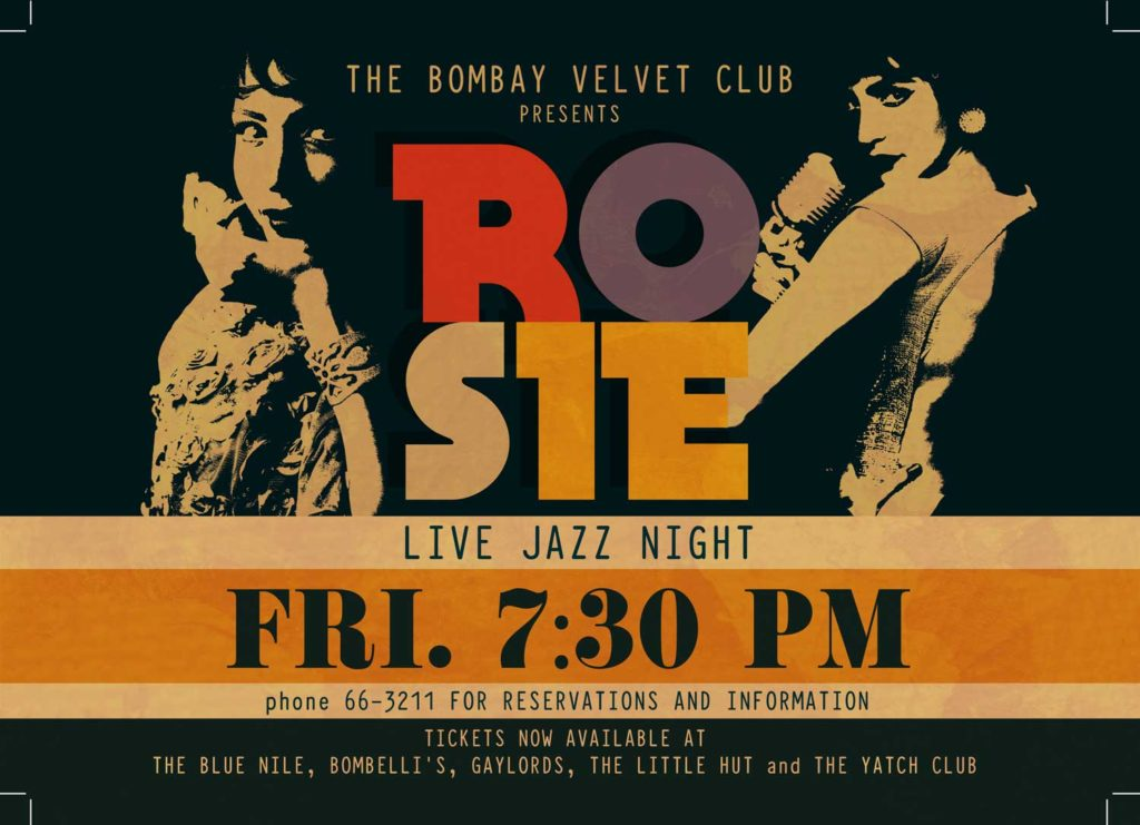 A flyer used in the film for a Jazz concert. Jazz singers and bands were a frequent sight in many clubs and bars in Bombay in the 50s and 60s. Photo Credits: Dhara Jain