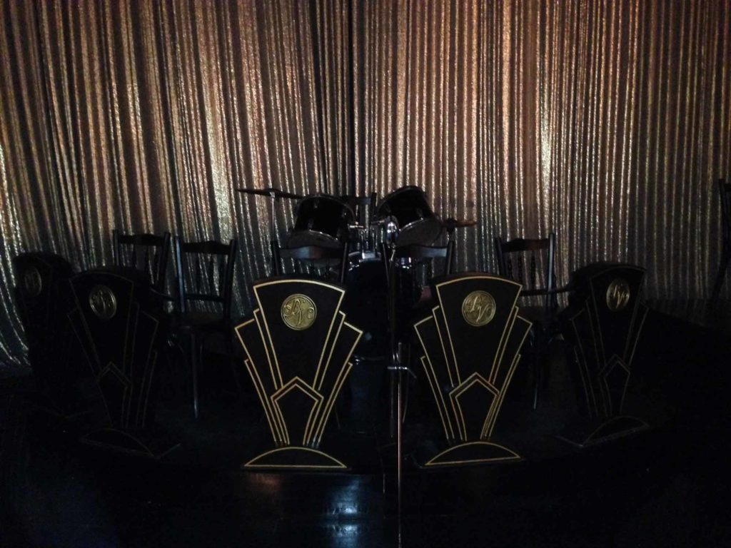Art Deco music boards used for the Jazz performances in the film. Photo Credits: Dhara Jain