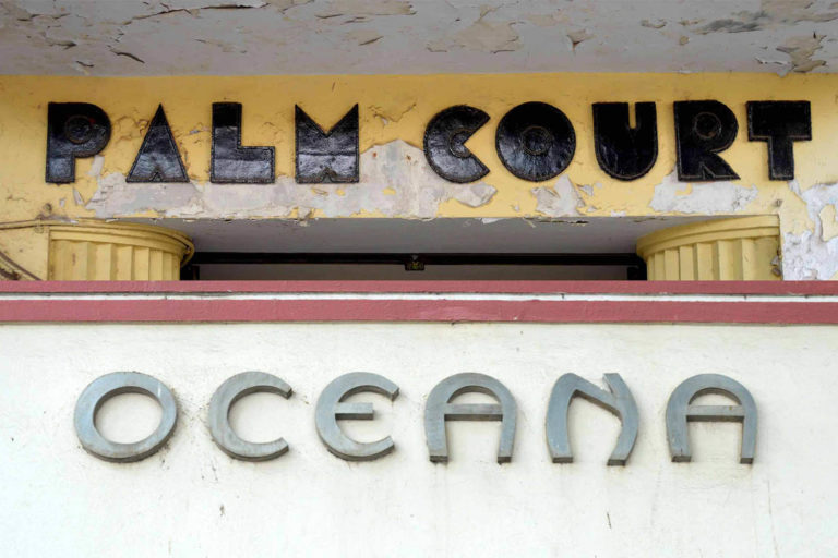 Architectural Lettering, a common feature on Art Deco buildings