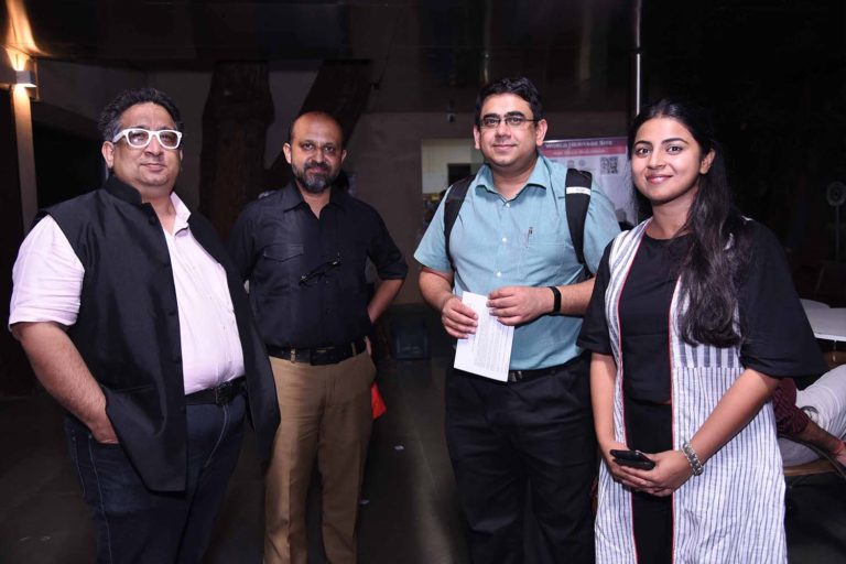 Prof. Dalvi, Pankaj Joshi, Omkar Gupta and Abeer Khan at the event