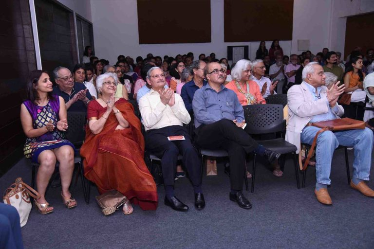 The audience at the event in CSMVS auditorium
