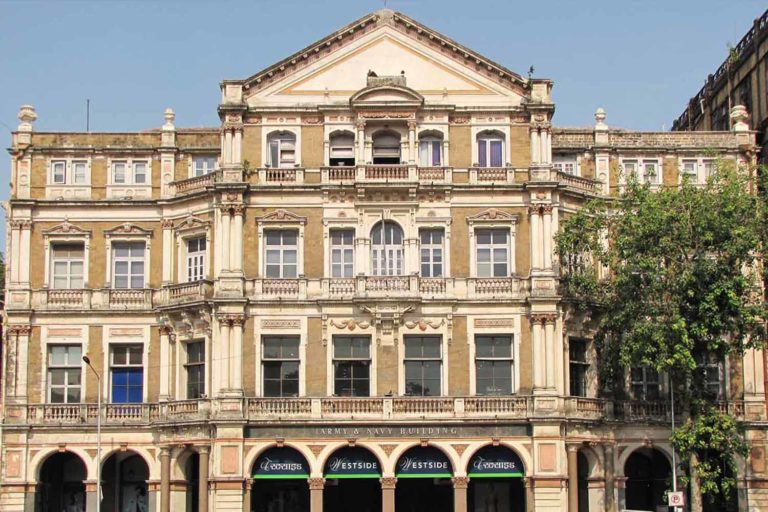 Neoclassical building within the Ensemble, Army Navy building