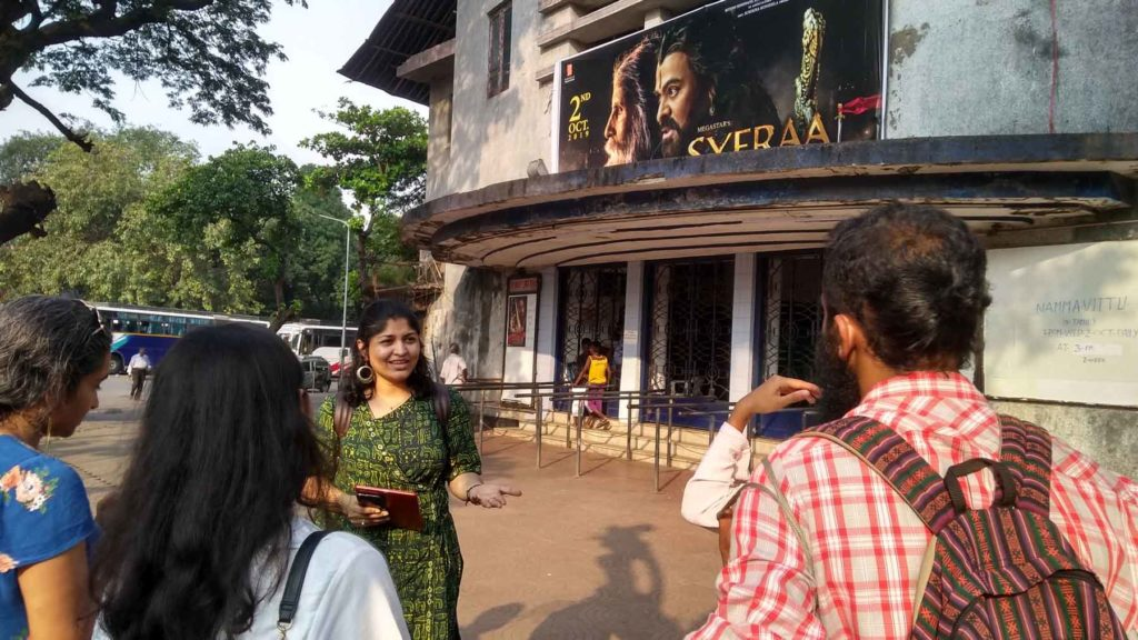 Participants at Aurora Cinema while on the Matunga Walk