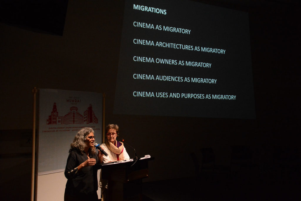 Prof Mary Woods and Vani Subramanian during the public lecture