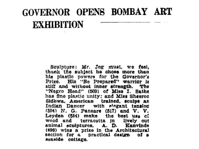 Article published in 'The Times of India' from 1941, showing numerous accolades won by Pansare.