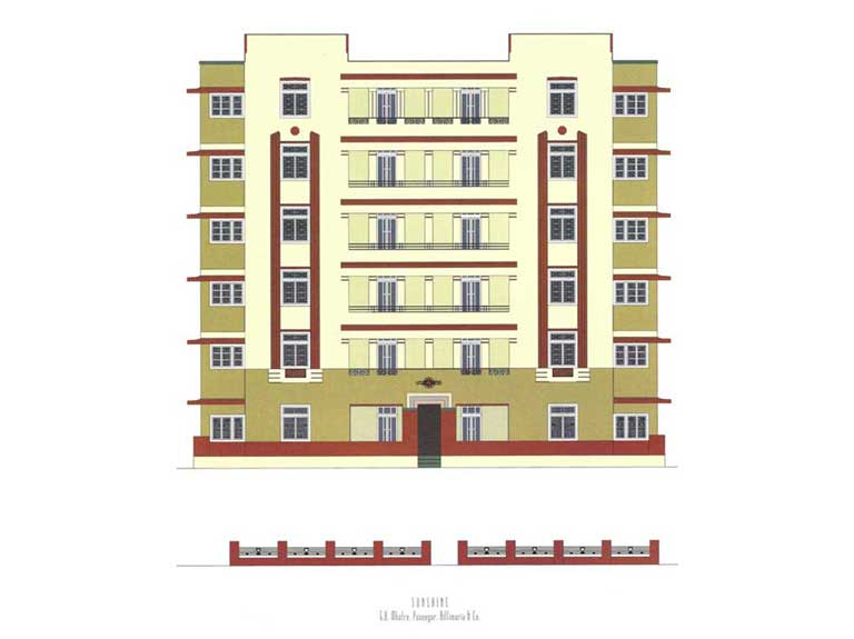 Sunshine, Source: Deco on the Oval – A Portfolio of facades and Details, Sir J.J. College of Architecture (2015)