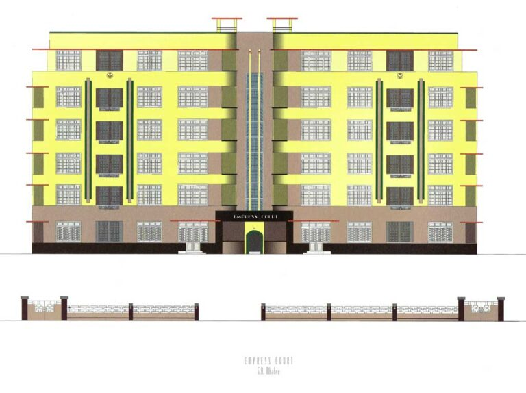 Empress Court, Source: Deco on the Oval – A Portfolio of facades and Details, Sir J.J. College of Architecture (2015)