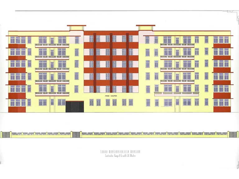 Rajesh Mansion, Source: Deco on the Oval – A Portfolio of facades and Details, Sir J.J. College of Architecture (2015)