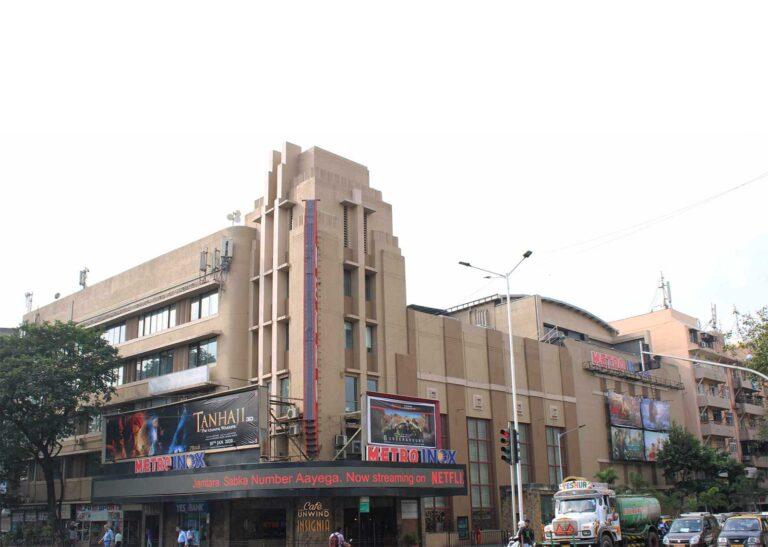 Mumbai's Deco landmark - Metro Cinema, designed by Ditchburn, Mistri & Bhedwar with Thomas W. Lamb. Source: Art Deco Mumbai Trust