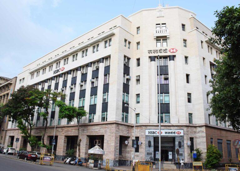 HSBC Bank building, designed by Ditchburn, Mistri & Bhedwar in association with J. A. Ritchie and L. Palfi. Source: Art Deco Mumbai Trust
